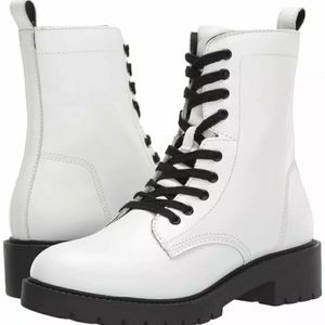 Steve madden White Leather Hiking Guided Boot New